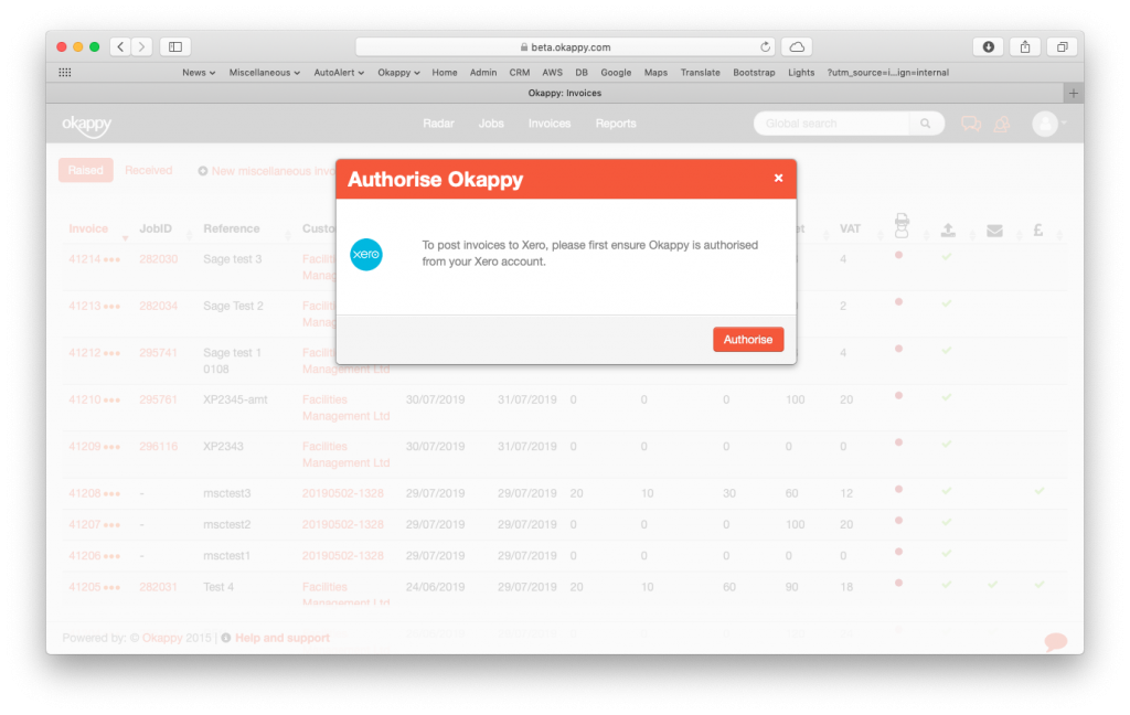 Authorising Your Okappy Account With Xero
