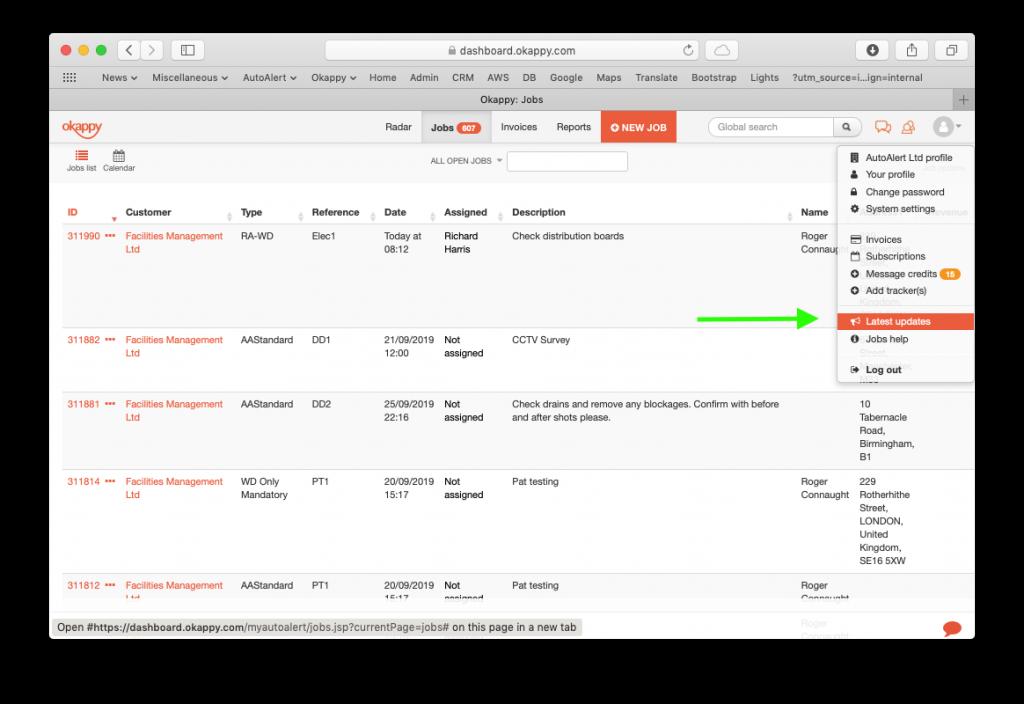 Web Screenshots Check For Updates