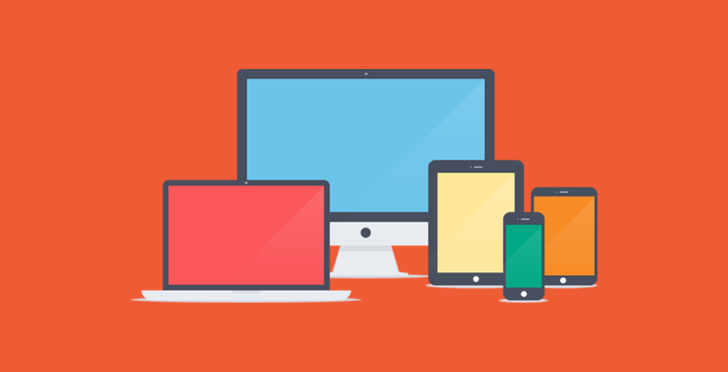 Devices with orange background