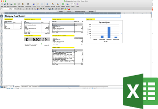 Microsoft Excel and Okappy