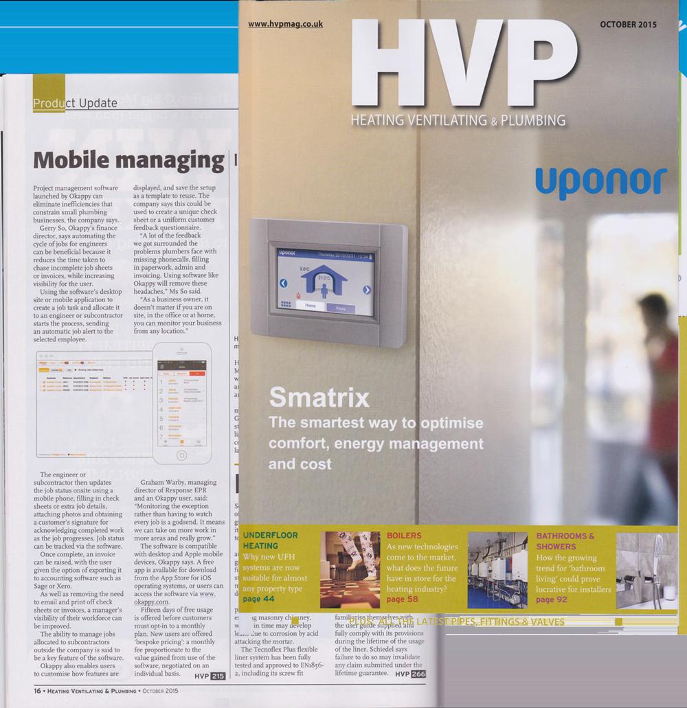 Okappy featured on HVP magazine