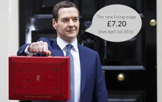 George Osborne announced the new living wage