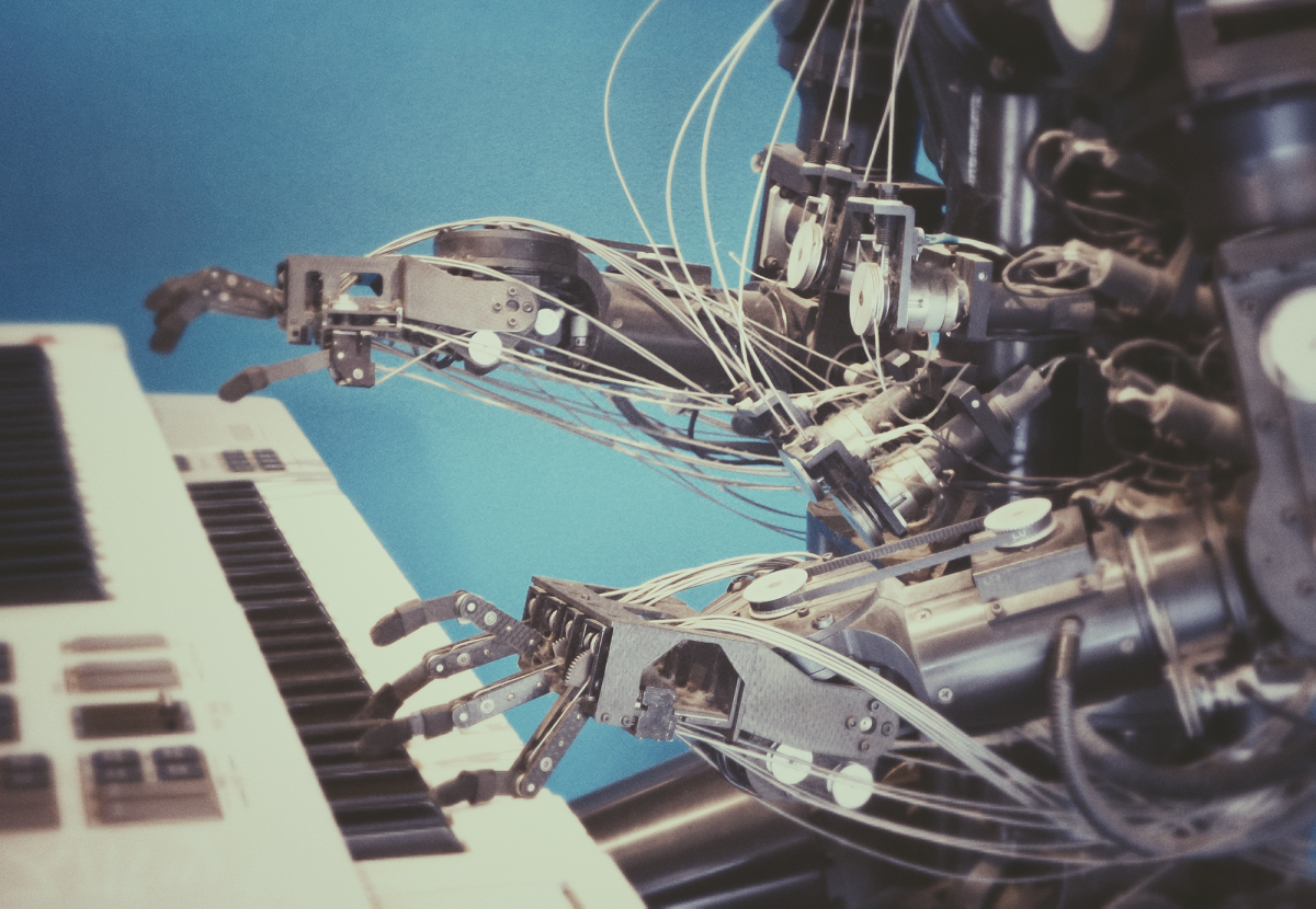 Artificial Intelligence and robots playing the piano