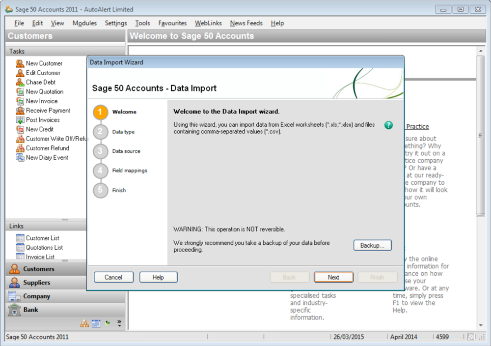 Export Your Invoice Raised To Sage Line - Invoice 50