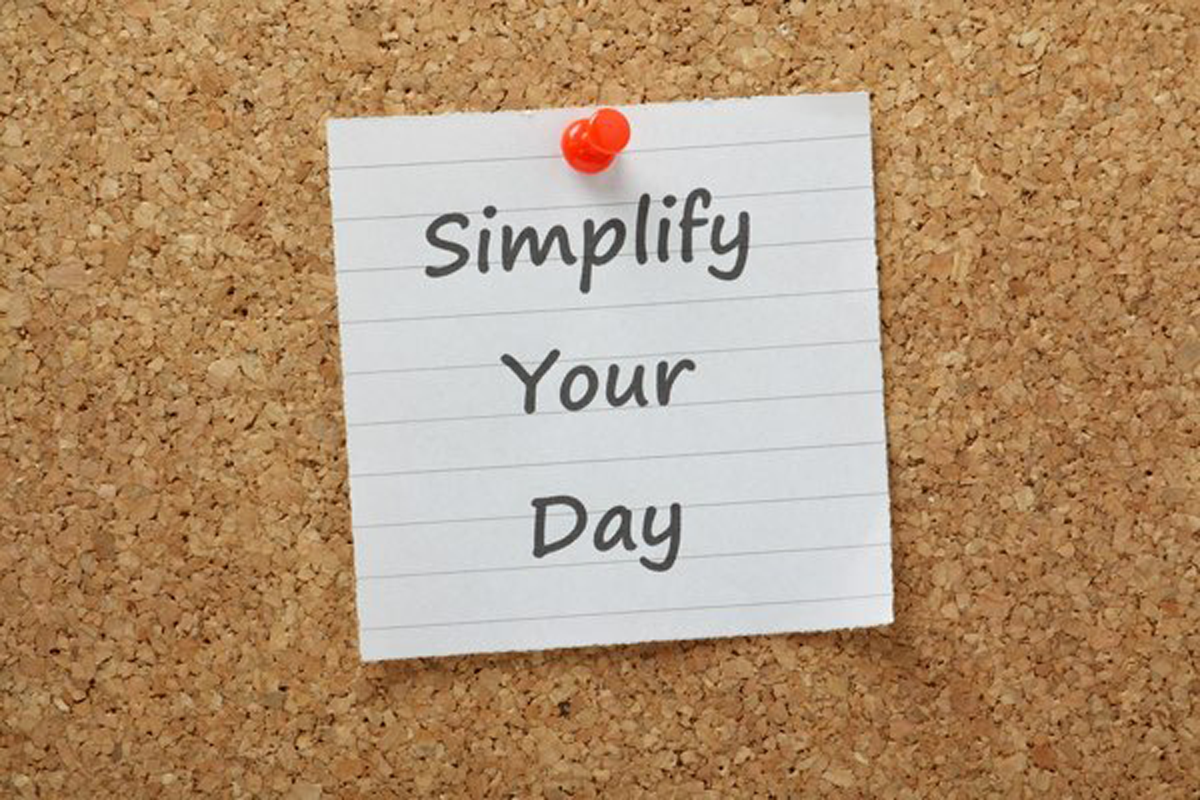 Simplify your day post-it note