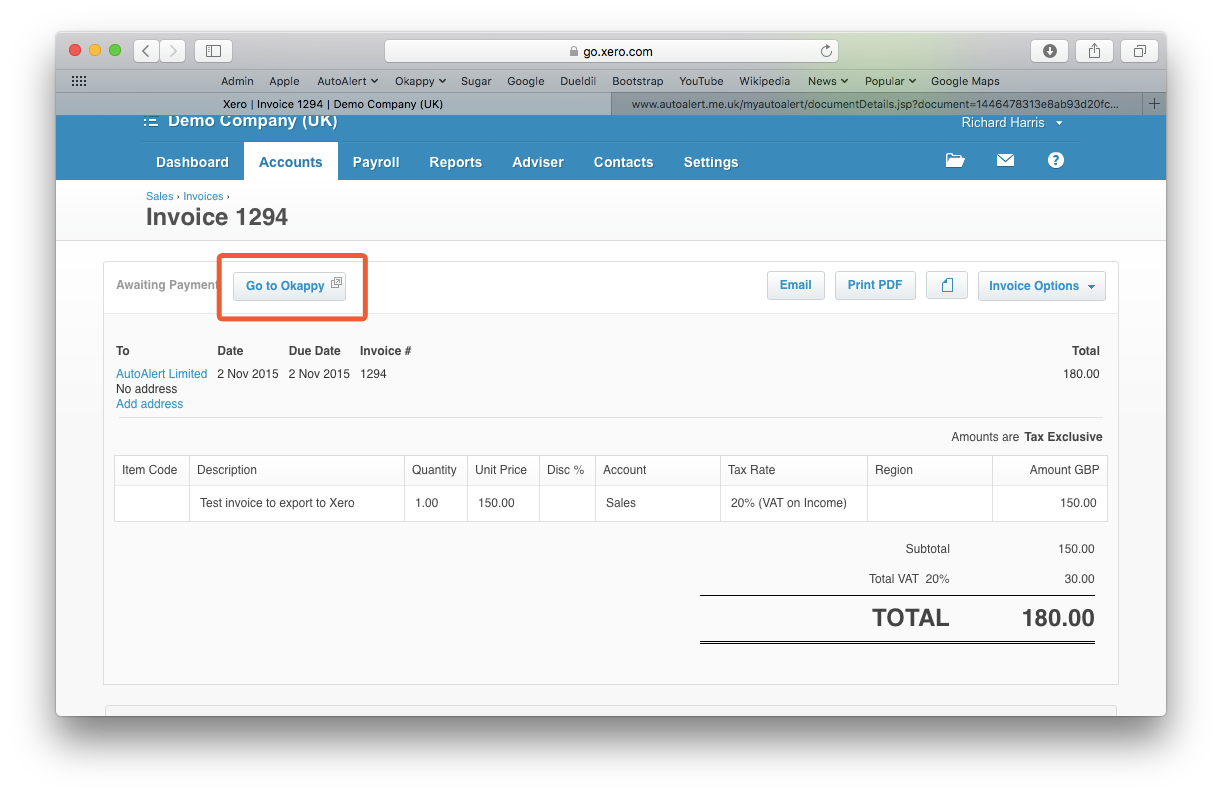 How To Export Your Invoice From Okappy To Xero Accounts